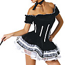 Maid Sexy mulher adulta Preto Halloween Costume (2 Unidades)