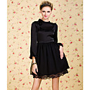 TS VINTAGE Front Folds Polka Dot Chiffon Dress