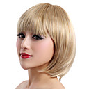 Capless Short Blonde Straight High Quality Synthetic Japanese Kanekalon Wigs