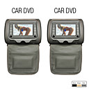 7 Inch Digital Screen Headrest DVD Player with TV, Game (1 Pair)