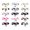 16 PCS Houndstooth Style Nail Foil Art Full Cover Stickers Manicure