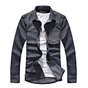 Bright Stand Clothes Plaid Long Sleeves Shirt