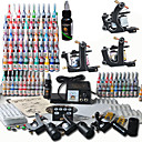 3 Cast Iron Tattoo Gun Kit for Lining and Shading with Top Quality LCD  Power Supply