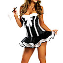Cameriera donne sexy Servo costume di Halloween (2 Pezzi)
