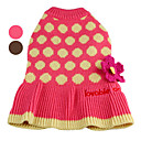 Flower Pattern Spotted Sweater with Skirt for Dogs (XS-XL, Assorted Colors)