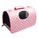 England Style Grid Pattern Folding Dog Carrier (Assorted Color,S-L)