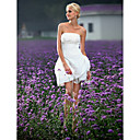Ball Gown Strapless Short/ Mini Taffeta Wedding Dress