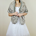 Elegant Faux Fox Fur Party/Evening Shawl/Wrap