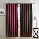 (Two Panels) Classic Jacquard Red Room Darkening Curtains
