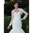 Gorgeous Lace Long Sleeve Wedding Jackets/Wraps With Beading (More Colors)