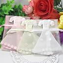 Lovely Dress Design Favors Bags - Set of 12 (More Colors)