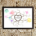 Personalized Fingerprint Painting - Hearts (Includes 6 Ink Colors, Frame Not Included)