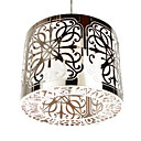 60W Artistic Stainless Steel Pendant Light with 1 light in Cylinder Design