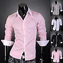 Mannen contrast kleur hals shirt