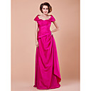 Mantel / Spalte off-the-Schulter bodenlangen Taft Mutter der Braut Kleid