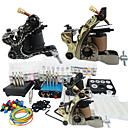 2 Cast Iron Tatoo Machine Kit for Lining and Shading(28 Colors)