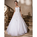 Ball Gown Sweetheart Straps Floor-length Tulle Wedding Dress