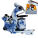 Blue and White Porcelain Coil Tatoo Machine Gun for Lining and Shading
