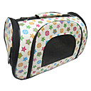 Star and Spot Pattern Folding Dog Carrier (Yellow,M-L)