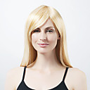 Capless extra lange synthetische licht blond steil haar pruik