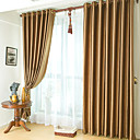 (Two Panels) Classic Embossed Brown Blackout Curtains