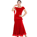 Dancewear Velvet Modern Dance Dress For Ladies