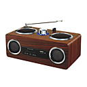 PN-08 Fine wooden box, double horn portable card speaker