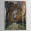 Hand-painted Oil Painting The Avenue Landscape Portrait by Claude Monet