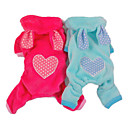 Heart Pattern Rabbit Style Hoodies with Pants for Dogs (Assorted Color,XS-XL)