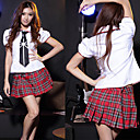 Cute Girl Black and Red and White Polyester School Uniform(1 Piece)