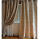 (Two Panels) Traditional Floral Polyester Energy Saving Curtains