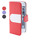 Lichee Pattern PU Leather Case with Stand and Wallet for iPhone 5 (Assorted Colors)