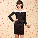 TS VINTAGE Contrast Color Jersey Sheath Dress