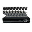 16-Kanal Home Video Surveillance Security Camera Kit (8 Außen-und 8 Indoor Tag Nacht CCTV, H.264 Network, IR 10m)