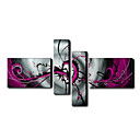 Hand-painted Oil Painting Abstract With Stretched Frame Set of 4 1211-AB0063