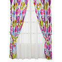 (Two Panels) Funny Print Cartoon Kids Curtains