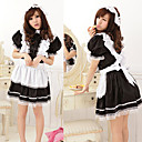 Cute Girl Black Polyester Maid Suit with Lace(1 Piece)