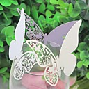 Laser-cut Butterfly Wedding Place Card For Wine Glass Card (Set of 12)