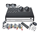 4 canaux DVR Kit Affichage d'un smartphone (2 x camras extrieures, camra dme 2x)