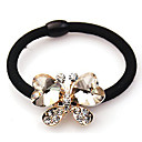 Women's Bow Crystal Hair Tie