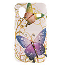 Colorful Butterfly Pattern Hard Case with Diamond for Samsung Galaxy Ace S5830