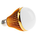 E27 10W 950-1050lm 6000-6500K Natural White Light Golden Shell LED Ball lamp (85-265V)