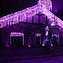 1Mx6M Purple LED String Lamp with 256 LEDs - Christmas & Halloween Decoration (Star)