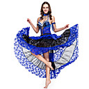 5-piece Dancewear Lace With Beading Performance Belly Dance Outfit For Ladies More Colors