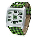 Lattice PU Band Quartz Wrist Watch(Green)