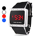 Unisex Touch Screen Style Silicone Digital LED Wrist Watch (Assorted Colors)