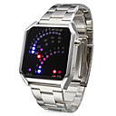 Stainless Steel Fashion 29 LED Blue Light Digital Sports Watch