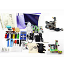 2 Tattoo Machine Guns Kit with HP-2 Power and 7 Inks
