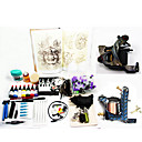 2 Hand-made Tattoo Machine Guns Kit for Lining and Shading