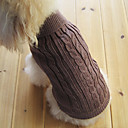 Classical European Style Sweater for Dogs Cats (Brown,XS-M)